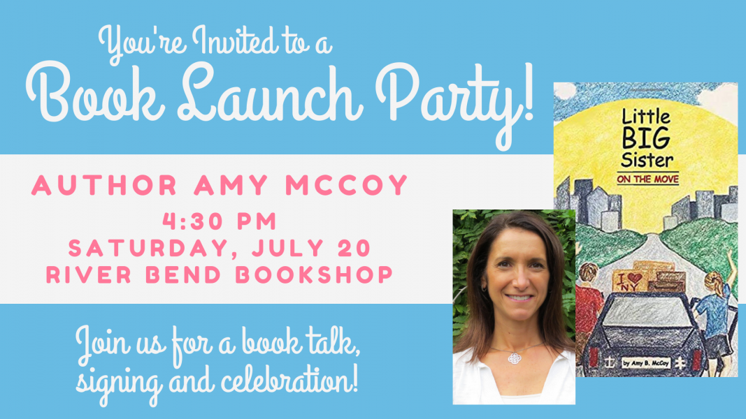 Amy McCoy is returning to River Bend Bookshop in July