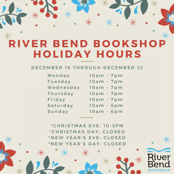 Special Extended Shopping Hours at River Bend Bookshop