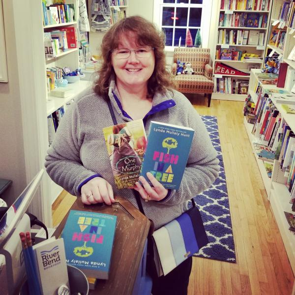 Lynda Mullaly Hunt at River Bend Bookshop