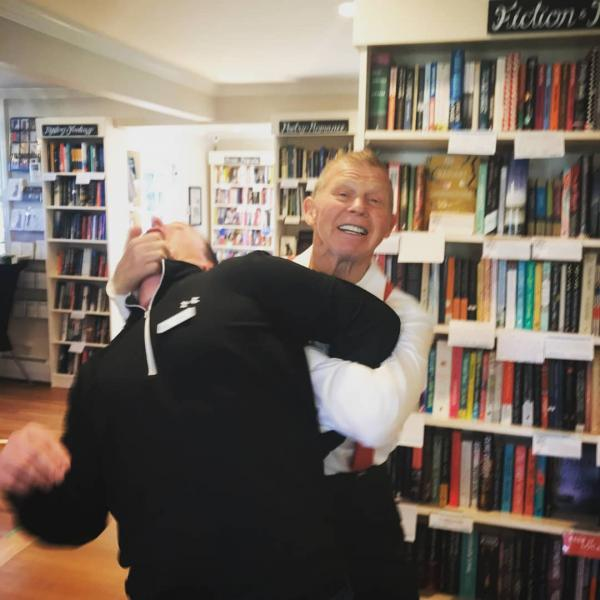 Wrestling Legend Bob Backlund in Action at River Bend Bookshop