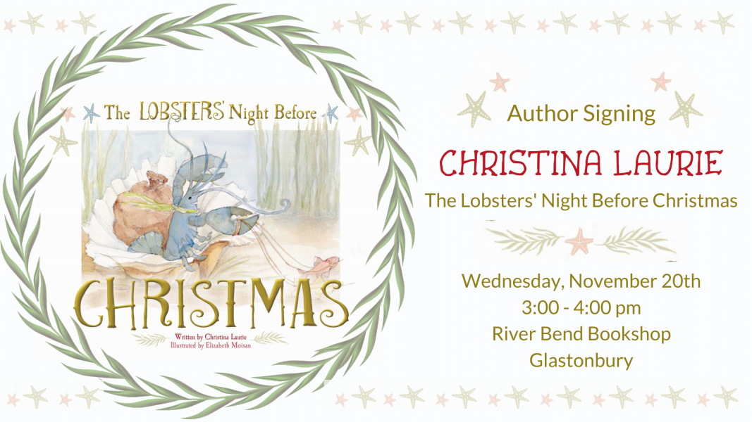 Author Christina Laurie will sign copies of her new book at River Bend Bookshop