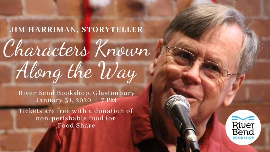 Jim Harriman, Storyteller, Performing at River Bend Bookshop