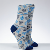 Chanukah Socks Adult - Menorah Design